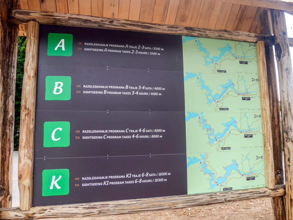 plitvice national park route choices croatia