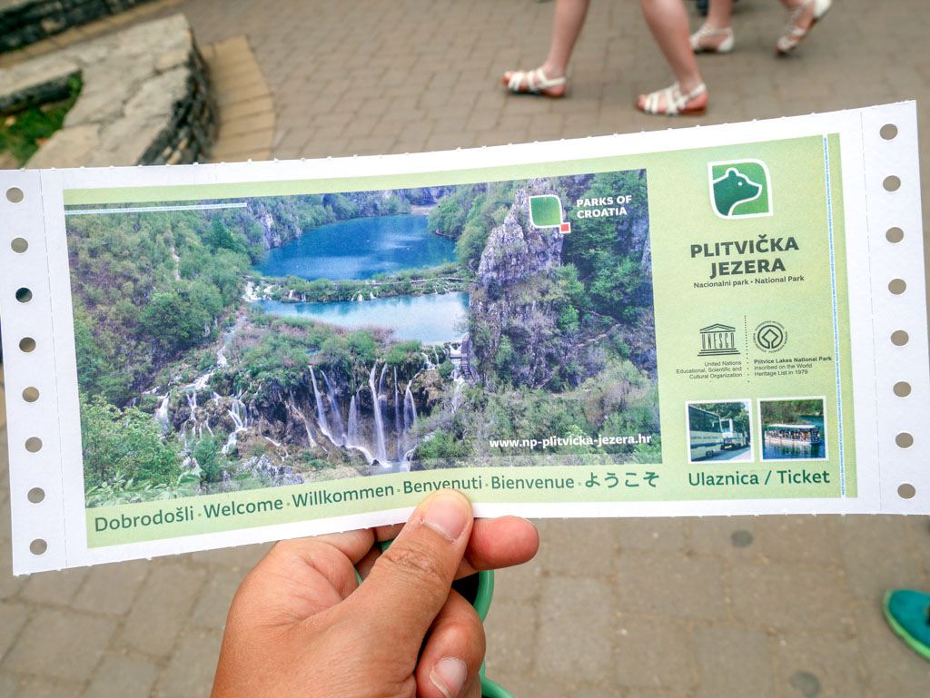 plitvice national park ticket croatia