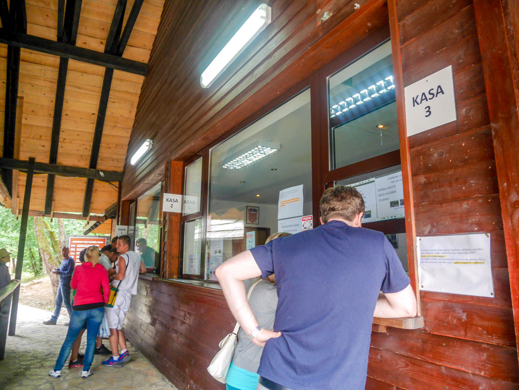 ticket office at plitvice national park croatia