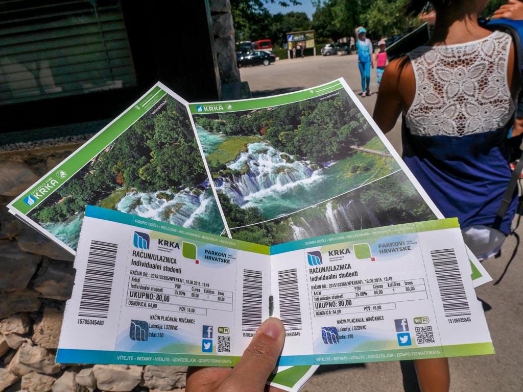 tickets to krka national park croatia