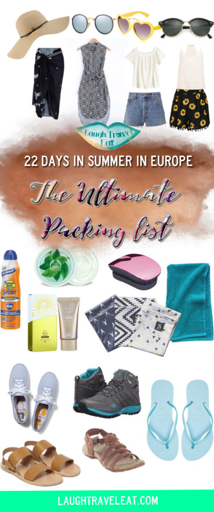 The Ultimate Pack List for 22 days in summer in Europe | Laugh Travel Eat
