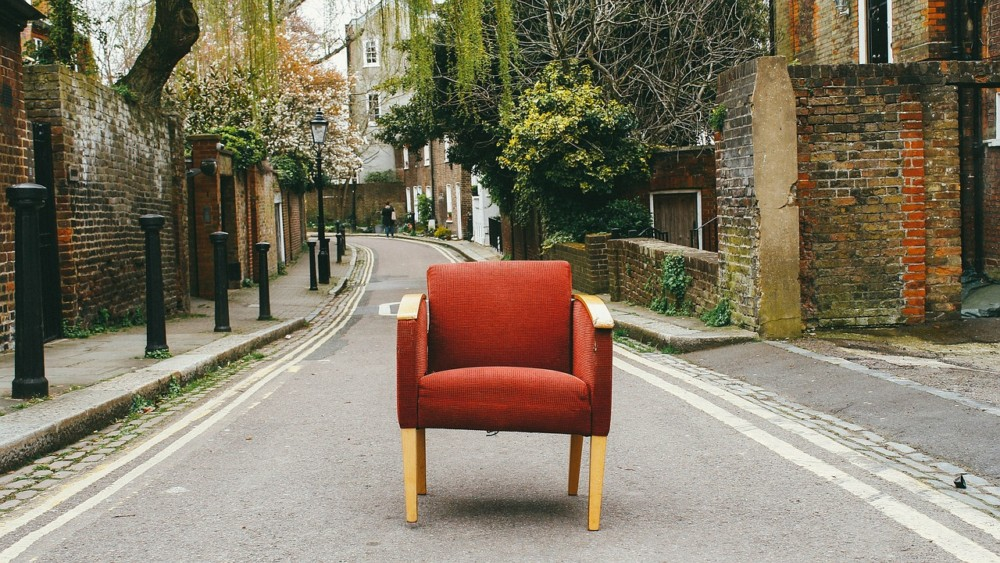 Chair in the middle of the street   Laugh Travel Eat