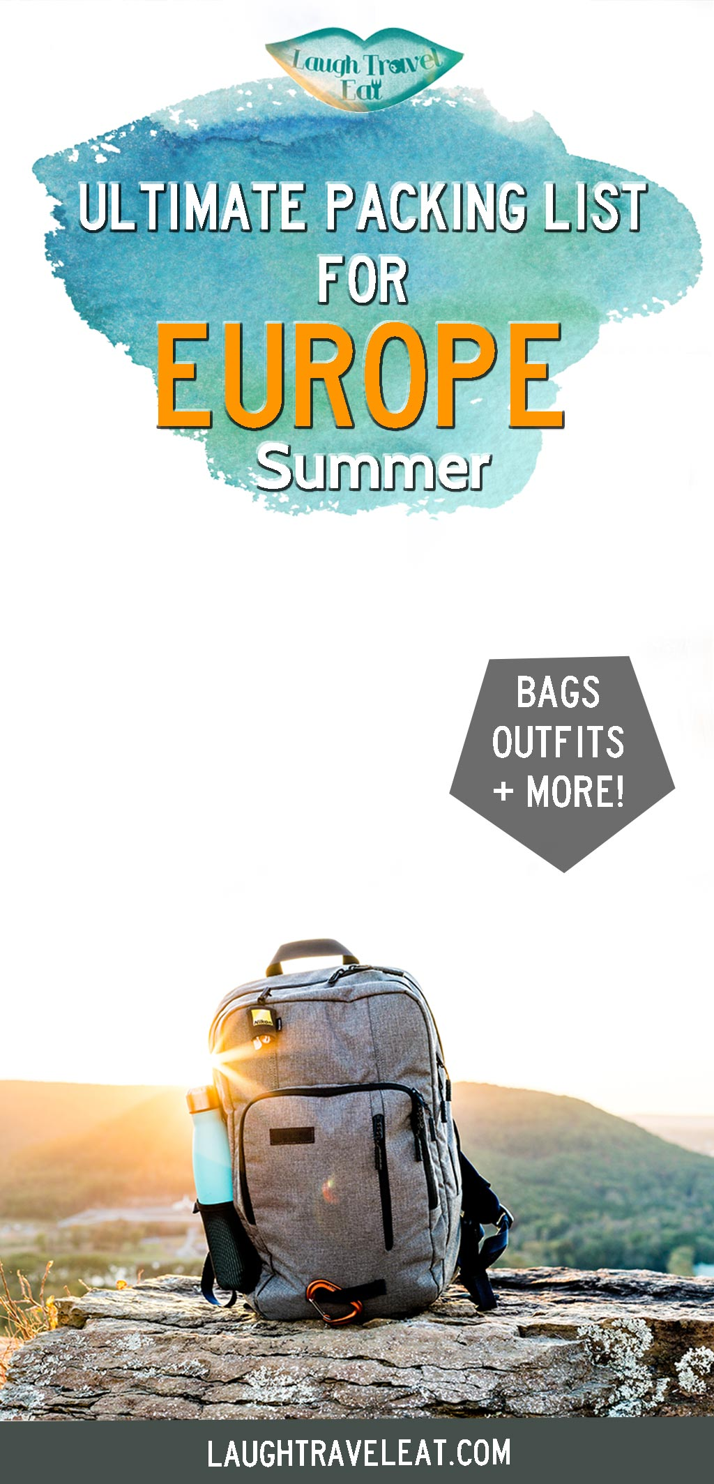 Heading to Europe for summer? Here's a packing list for 3 weeks, including the best luggage, bags, clothes, and essentials #europe #packinglist #summer
