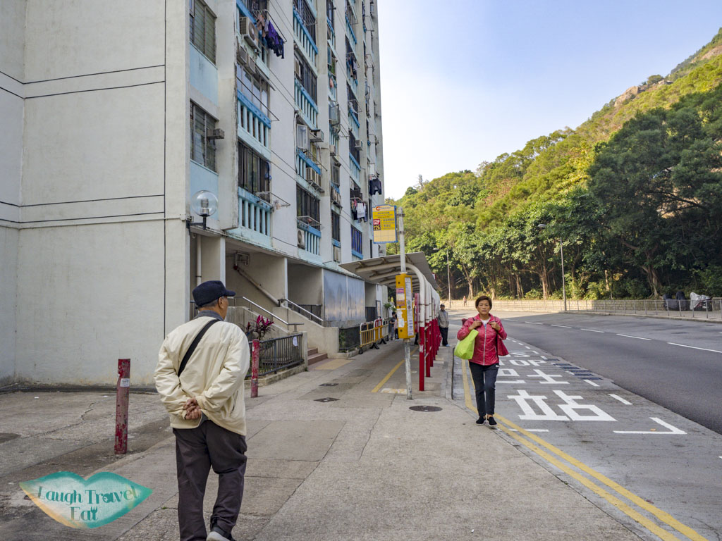 going up to trail start for suicide cliff kowloon peak via fei ngo shan road hong kong - laugh travel eat