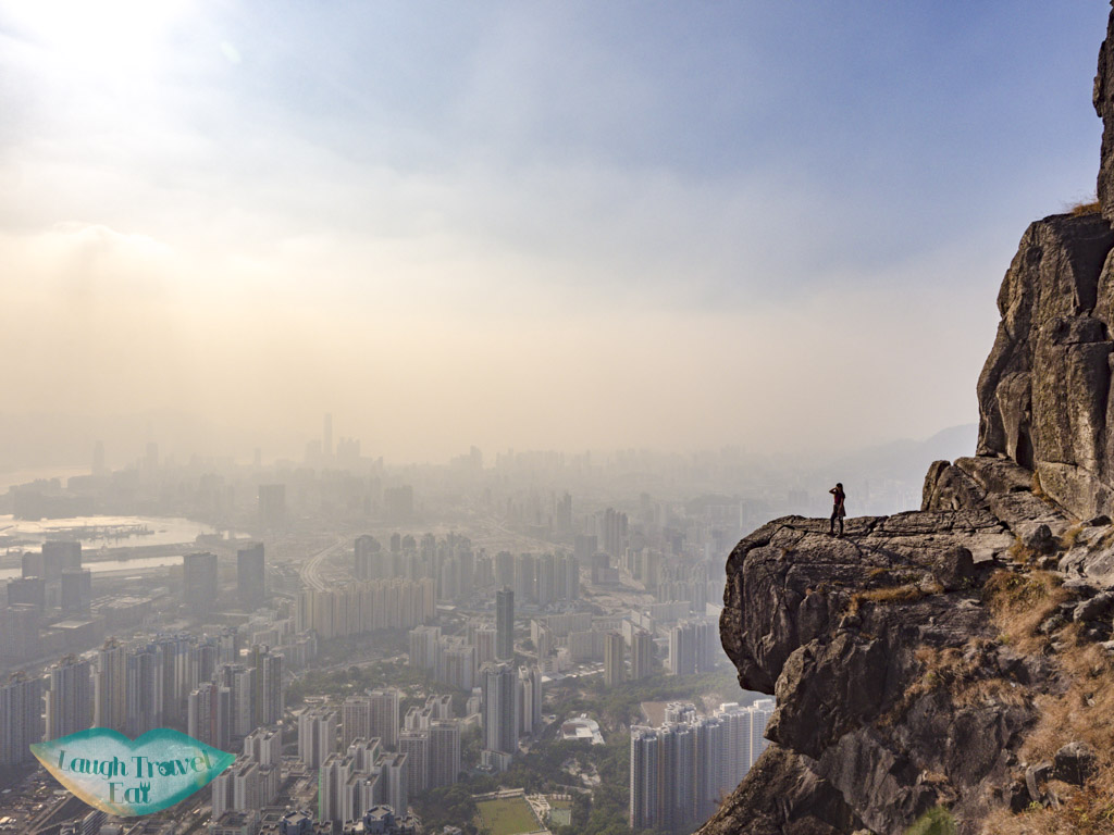 me on suicide cliff kowloon hong kong - laugh travel eat