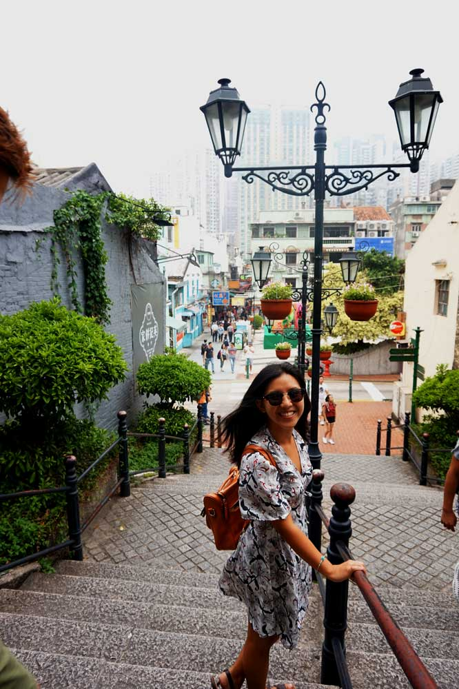 Heading to Cunha Street, Taipa, Macau | Laugh Travel Eat