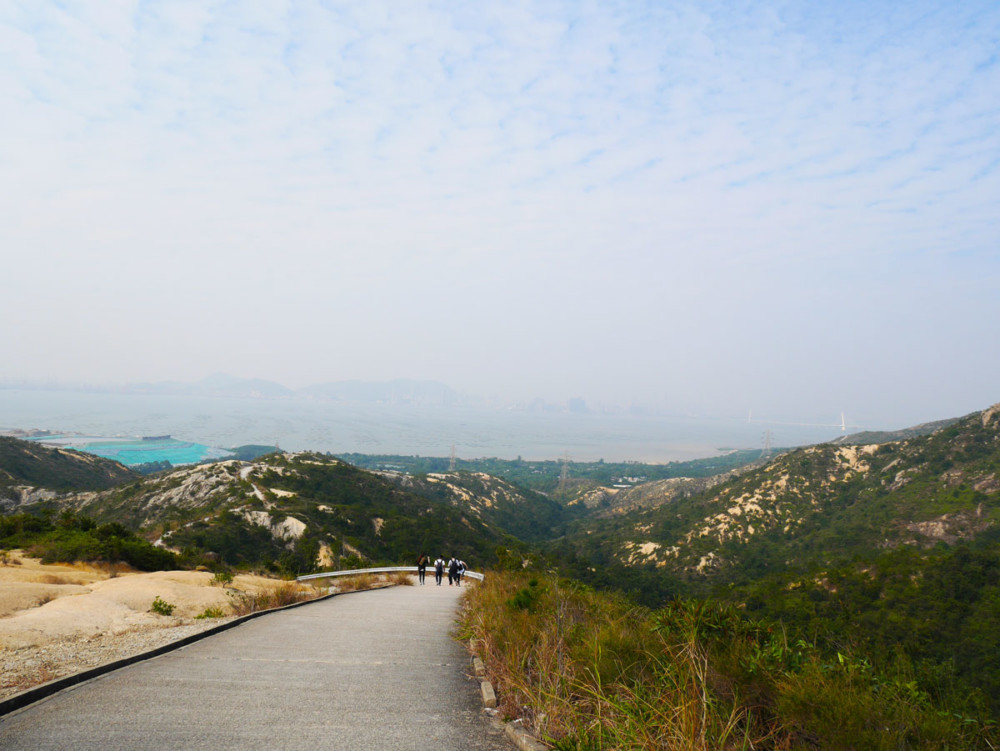 Second part of Castle Peak Range Road from Pineapple Mountain, Tuen Mum, Hong Kong | Laugh Travel Eat