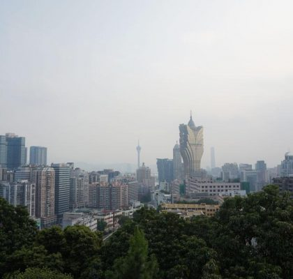 Macau viewed from Guia Hill, China | Laugh Travel Eat