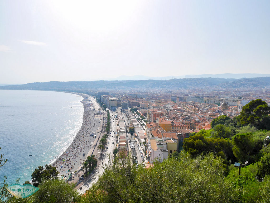view of nice from castle hill south of france | laugh Travel eat