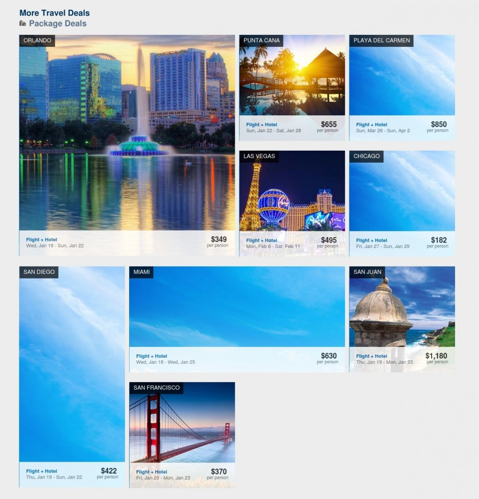 Expedia Deal Page Screenshots | Laugh Travel Eat