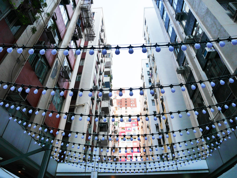 Fashion Walk looking up, Causeway Bay, Hong Kong | Laugh Travel Eat