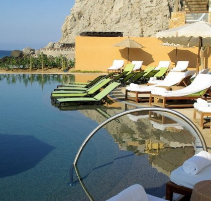 luxury resort poolside