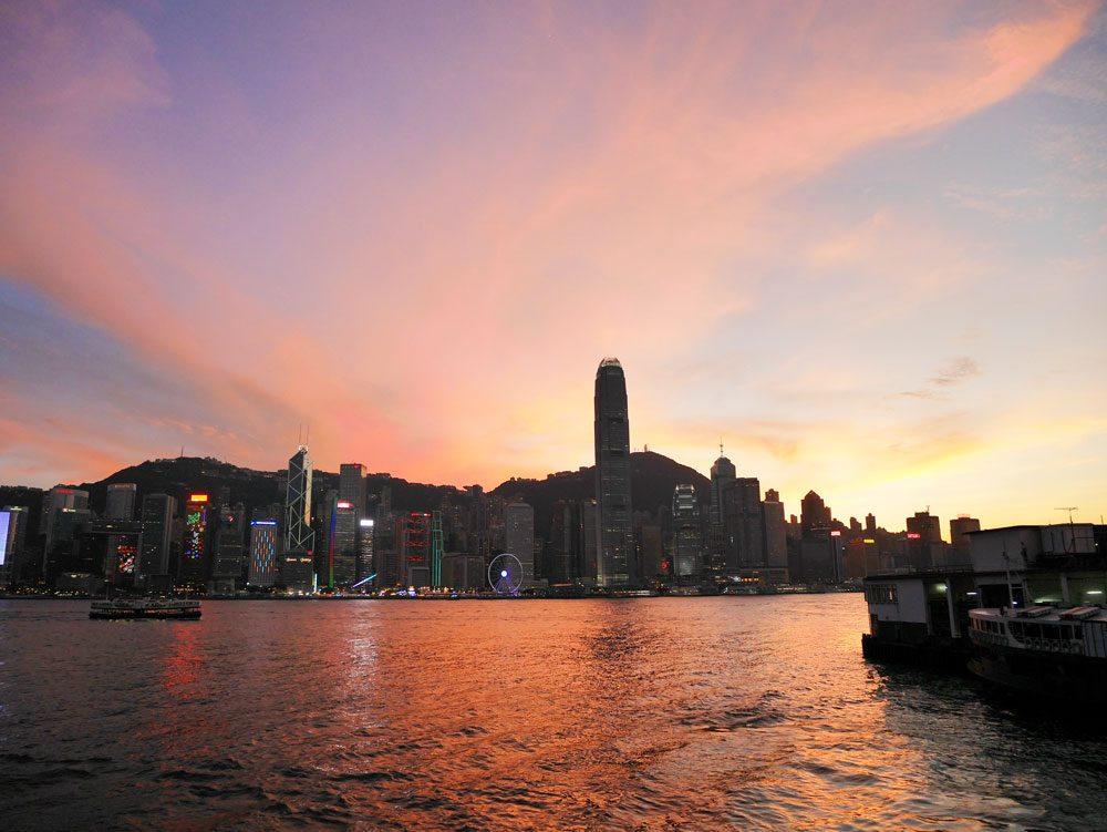 Sunset at Tsim Sha Tsui Promenade, Hong Kong | Laugh Travel Eat