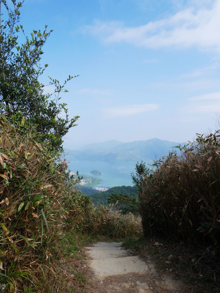 Sai Kung sea glimpse from the trail, MacLehose Stage 4, Sai Kung, Hong Kong | Laugh Travel Eat