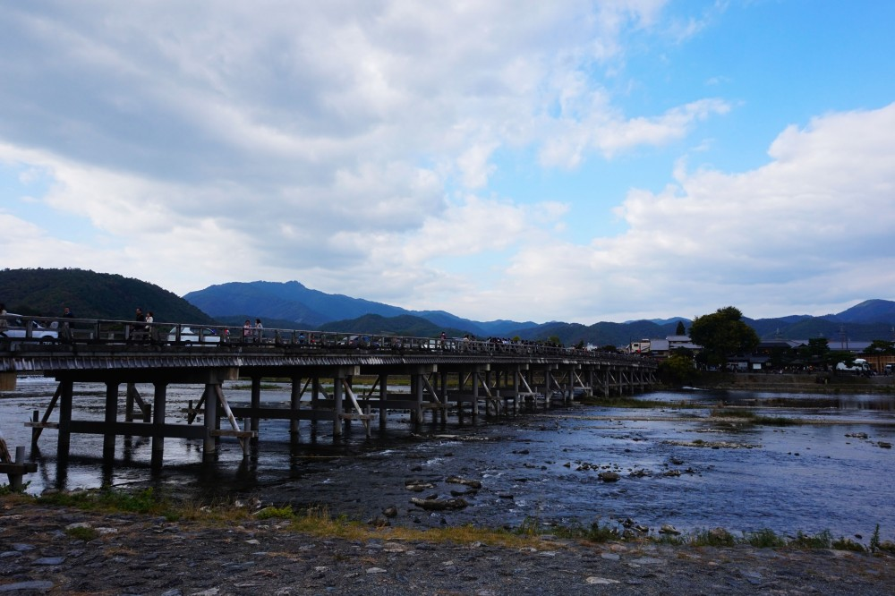 Togetsukyo Bridge at Arashiyama, Kyoto, Japan | Laugh Travel Eat