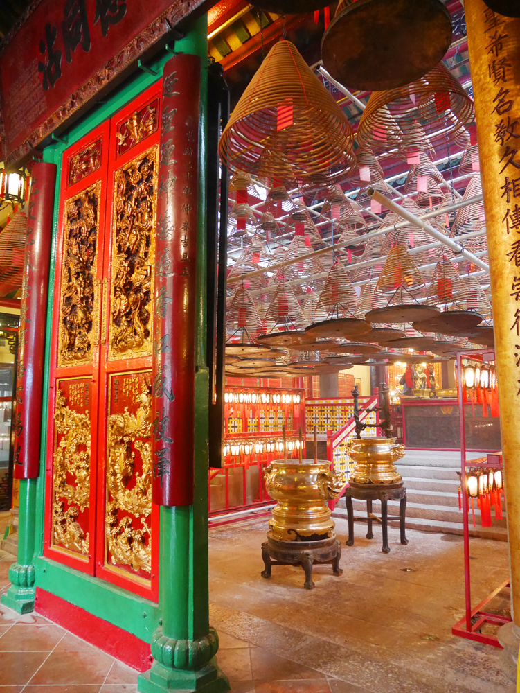 The interior of Man Mo Temple, Sheung Wan, Hong Kong | Laugh Travel Eat