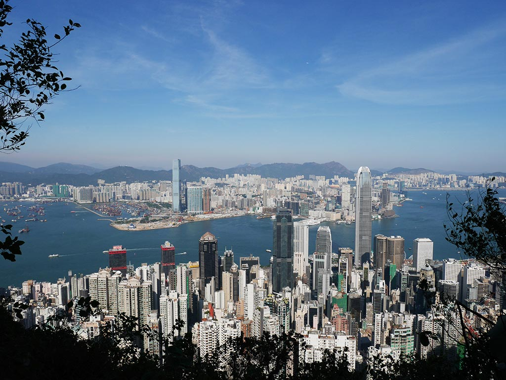 View of Kowloon Peninsular from Luggard Road start, Hong Kong | Laugh Travel Eat