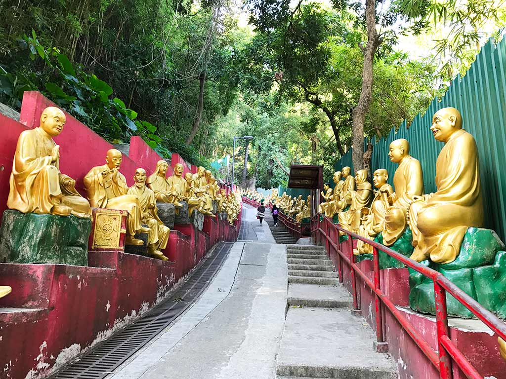 ten thousand buddhas monastery, shatin, hong kong | Laugh Travel Eat