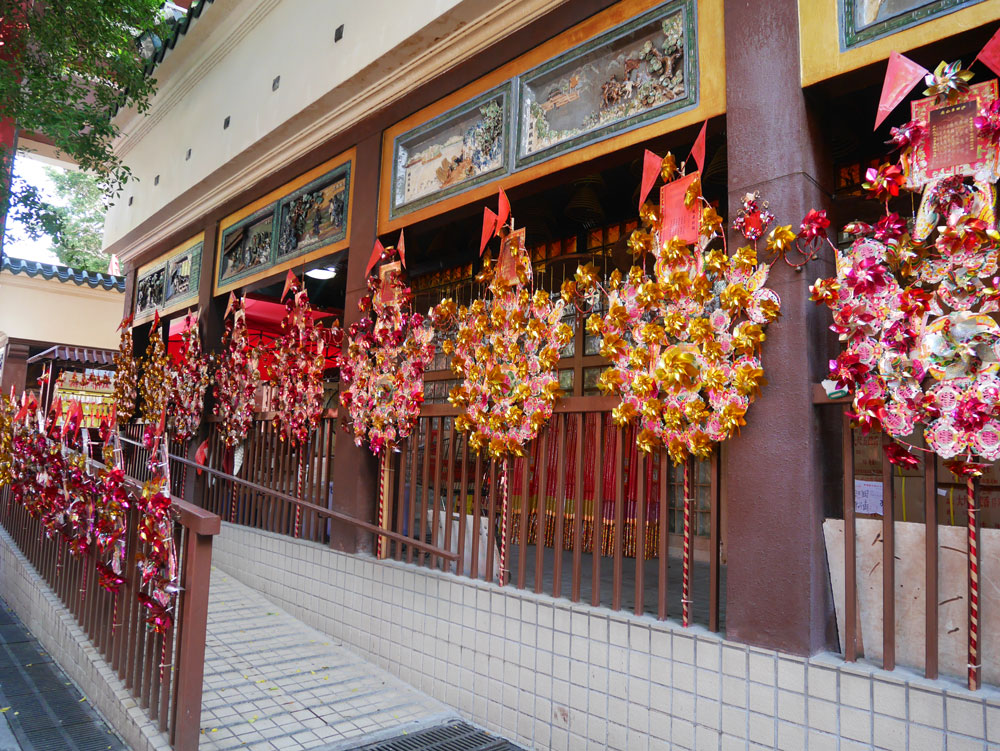Fortune wheel at Che Kung Temple, Shatin, Hong Kong | Laugh Travel Eat