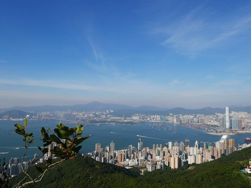 View facing north from west high hill of Kowloon Peninsular, Hong Kong | Laugh Travel Eeat