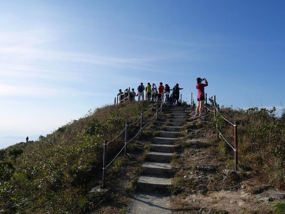 viewing platform at the end of West High Hill, Hong Kong | Laugh Travel Eat