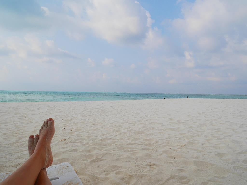 beach time on Gaafaru, Maldives | Laugh Travel Eat