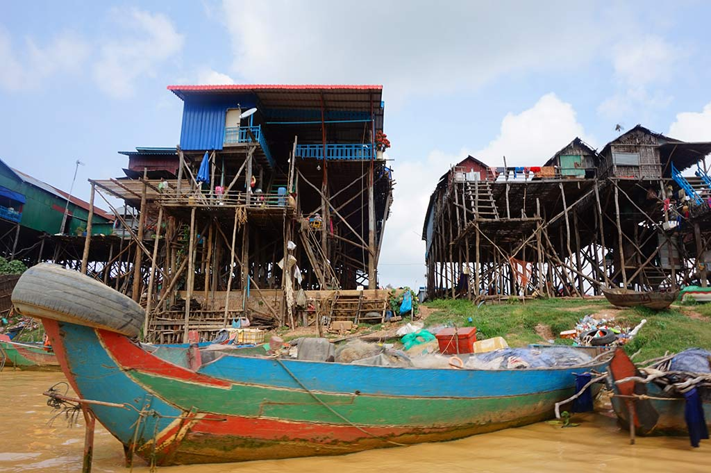 Low season Kampong Phluk floating village, Siem Reap, Cambodia | Laugh Travel Eat