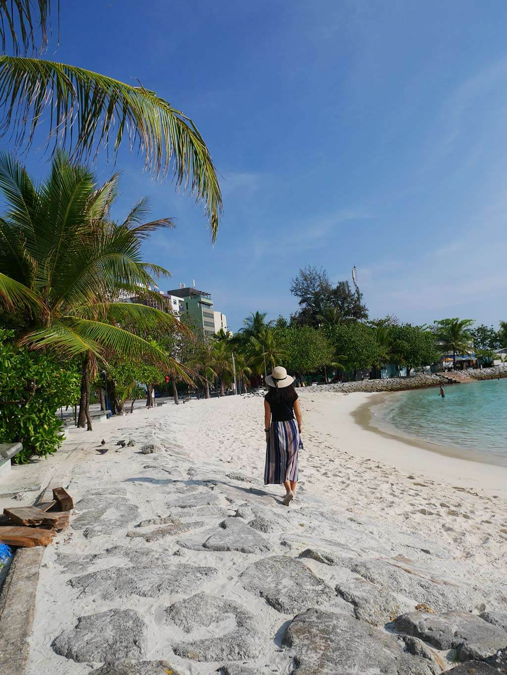 Artificial beach in Male, Maldives | Laugh Travel Eat