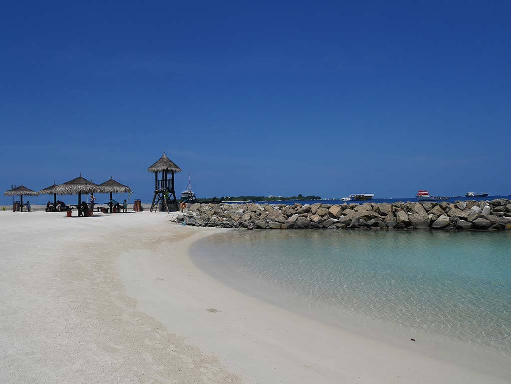 Artificial beach of Maldives in the west coast