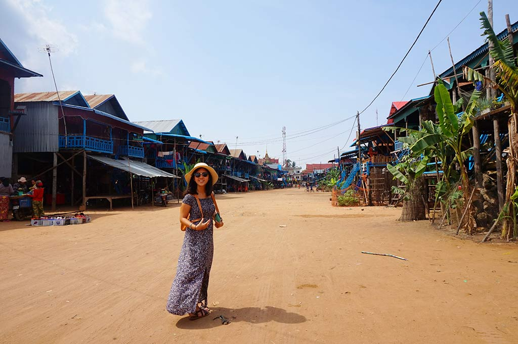 Kompong Pluk floating village single road, Siem Reap, Cambodia | Laugh Travel Eat