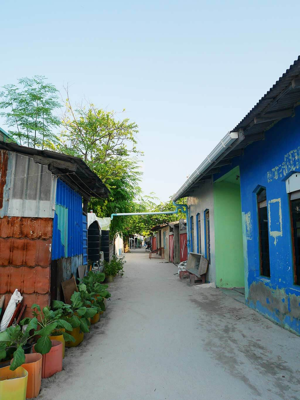 Colourful street of Gaafaru, Maldives | Laugh Travel Eat