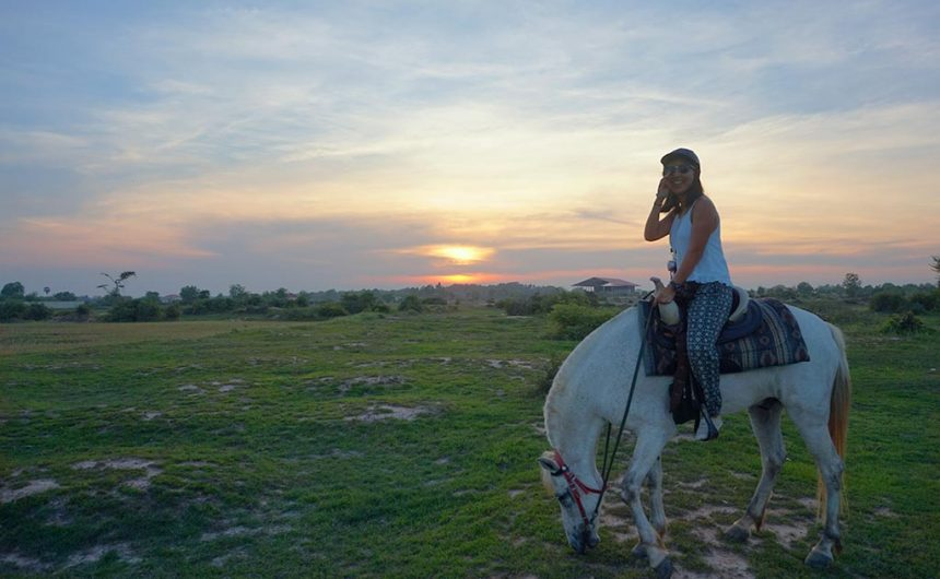 Sunset in Siem Reap Countryside with Happy Ranch, Siem Reap, Cambodia | Laugh Travel Eat