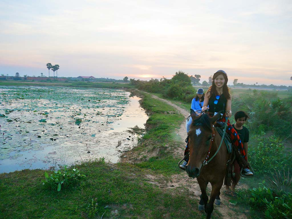 Happy Ranch sunset riding, Siem Reap, Cambodia | Laugh Travel Eat