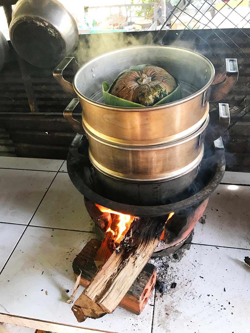 Wood fire cooking at siem reap cooking class, Cambodia | Laugh Travel Eat