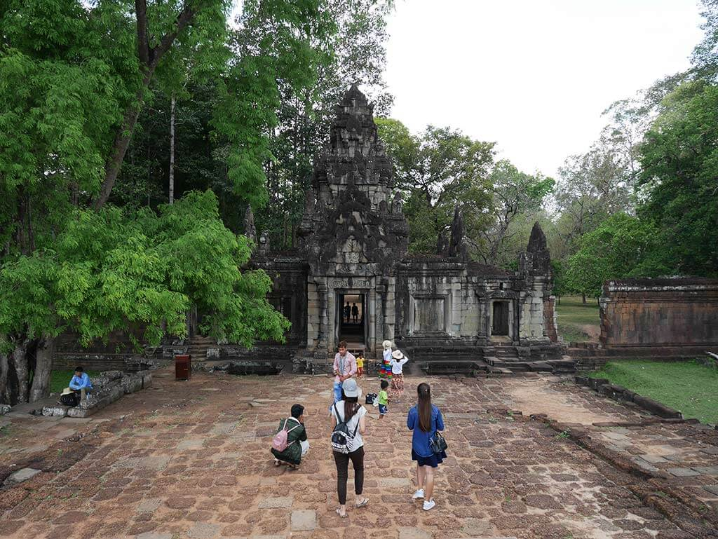 Elephant terrace that links to the palace, Angkor THom, Cambodia | Laugh Travel Eat