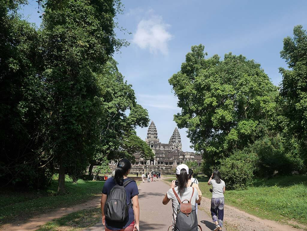 Angkor Wat first glimpse, Cambodia | Laugh Travel Eat