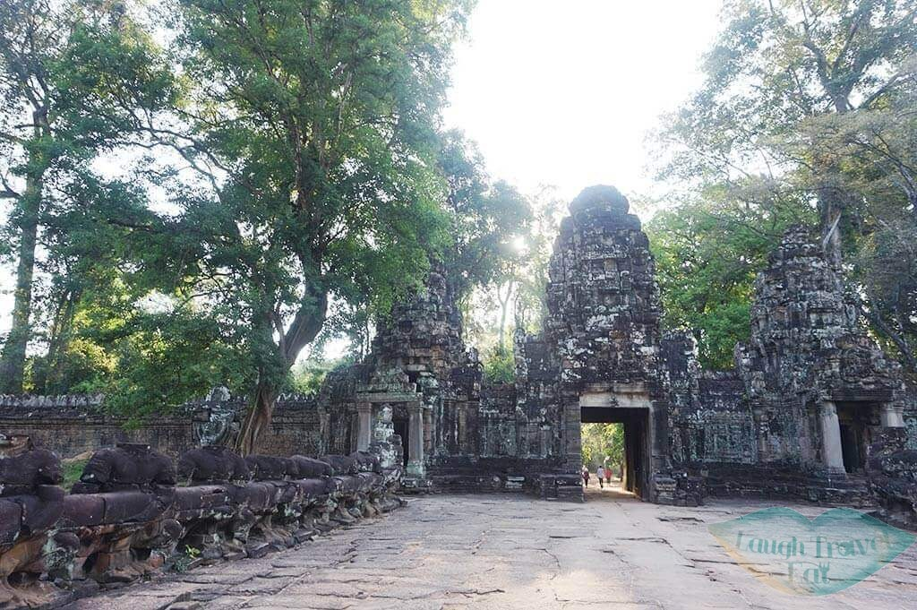 Preah Khan Temple entrance, Siem Reap, Cambodia | Laugh Travel Eat