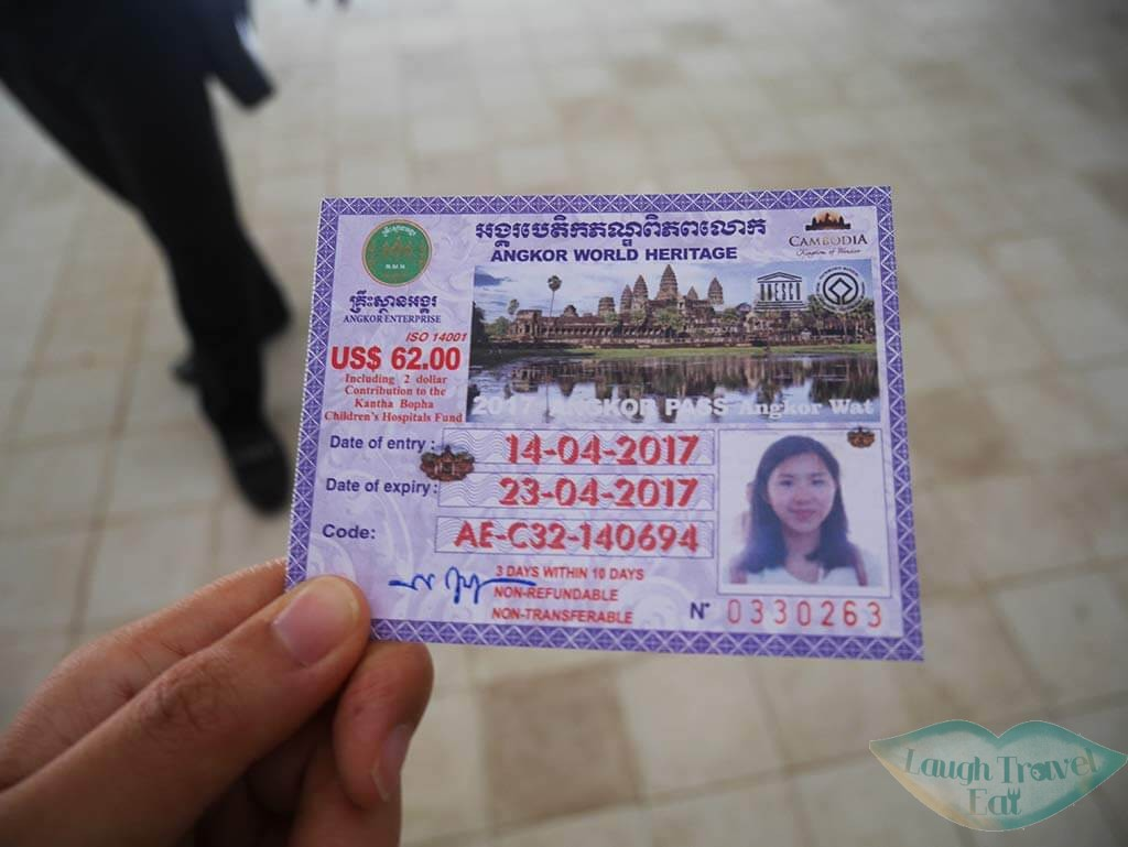 Angkor Wat ticket, Siem Reap, Cambodia | Laugh Travel Eat
