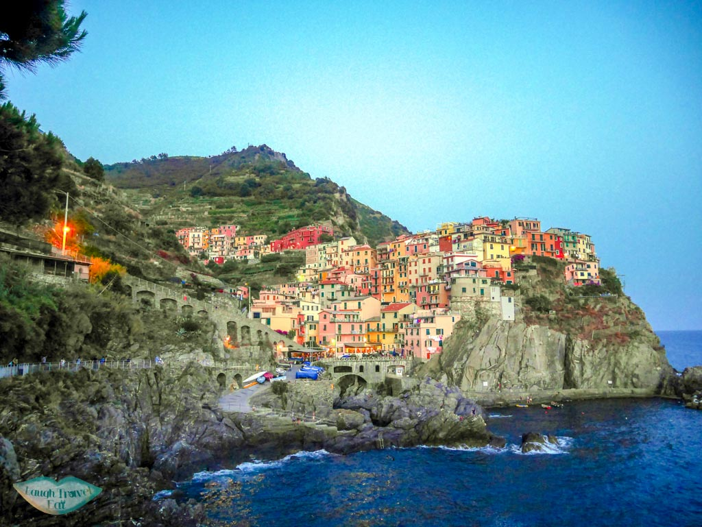 View of Manarola from the cliff-lined path | Laugh Travel Eat