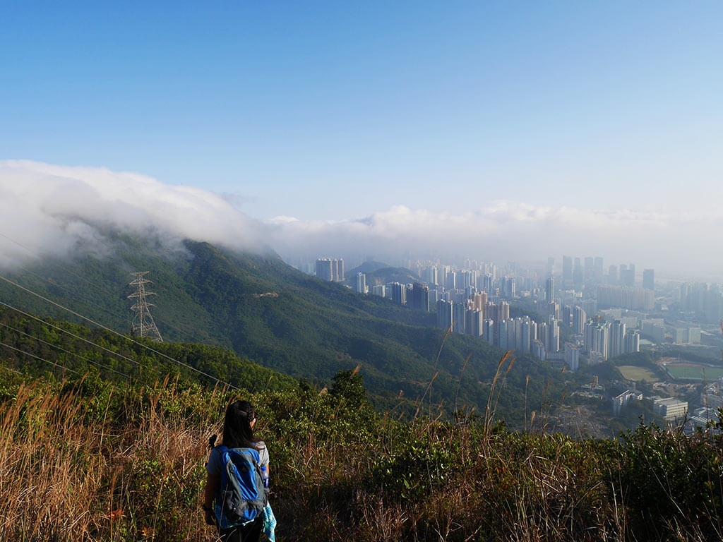 The view we got of Tate's Cairn on the way down to Grasscutter Pass, Kowloon, Hong Kong | Laugh Travel Eat