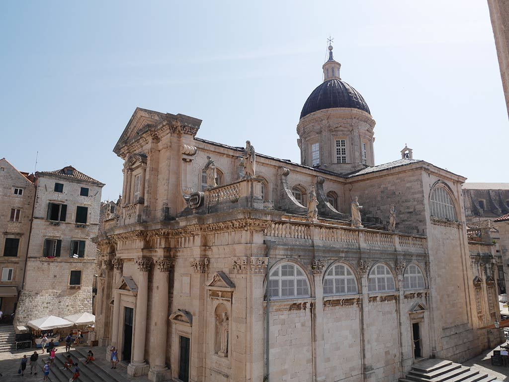 dubrovnik cathedral from above, Croatia | Laugh Travel Eat