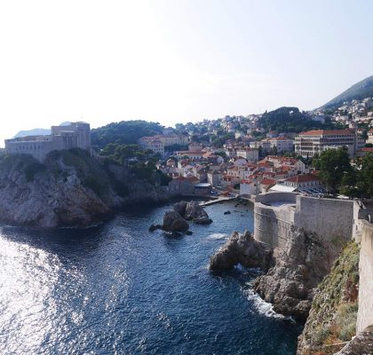 dubrovnik city wall view to fort Lovrijenac, Croatia | Laugh Travel Eat