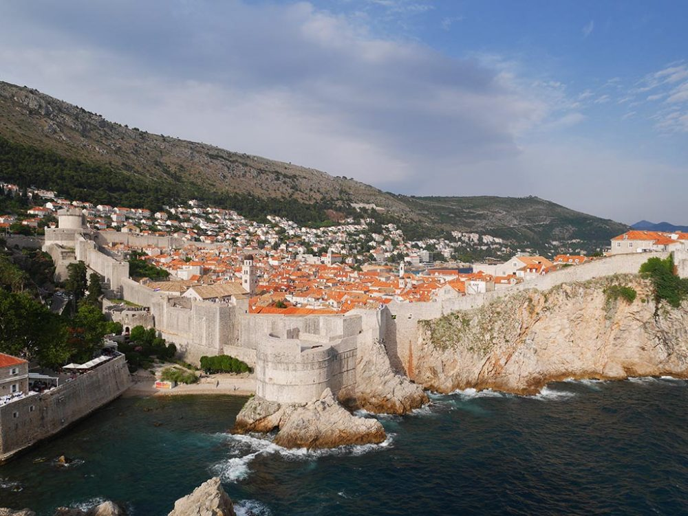 dubrovnik viewed fro Fort Lovrijenac, Croatia | Laugh Travel Eat