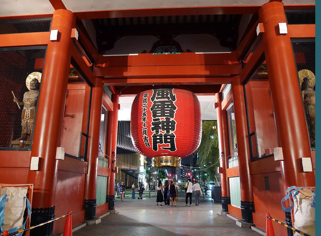Kaminarimon on the inner side, sensoji temple, asakusa, taito, tokyo, japan | Laugh Travel Eat