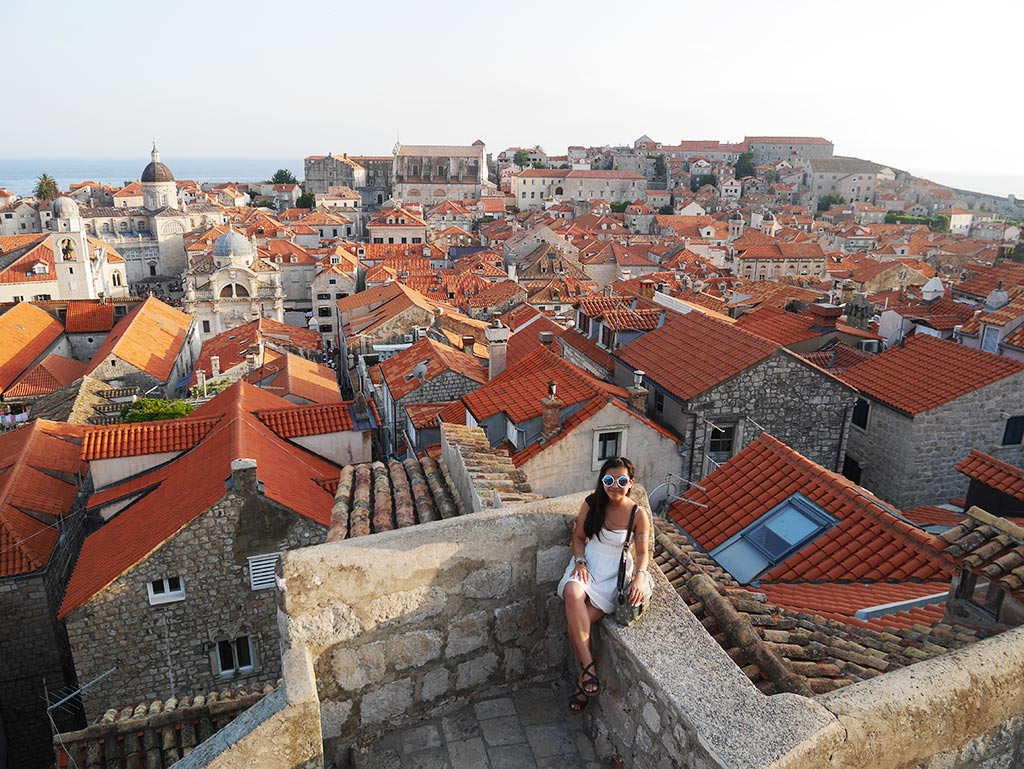 me on dubrovnik city wall game of thrones style, Croatia | Laugh Travel Eat