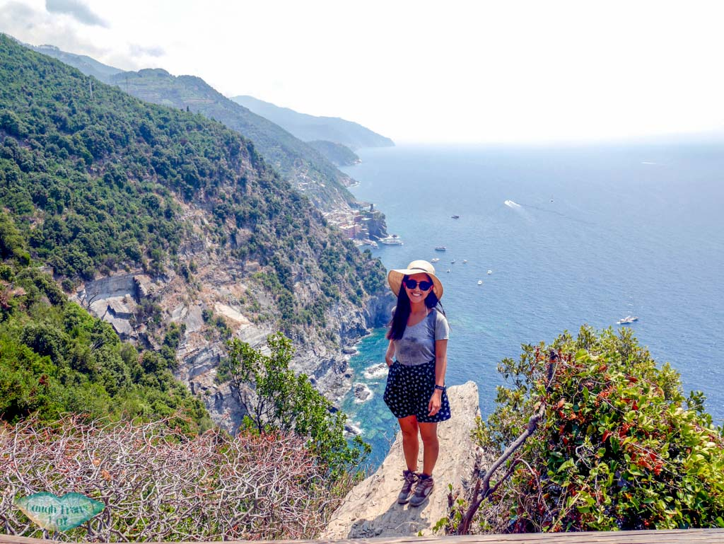me on the trail from monterrosa to vernazza cinque terre liguria italy