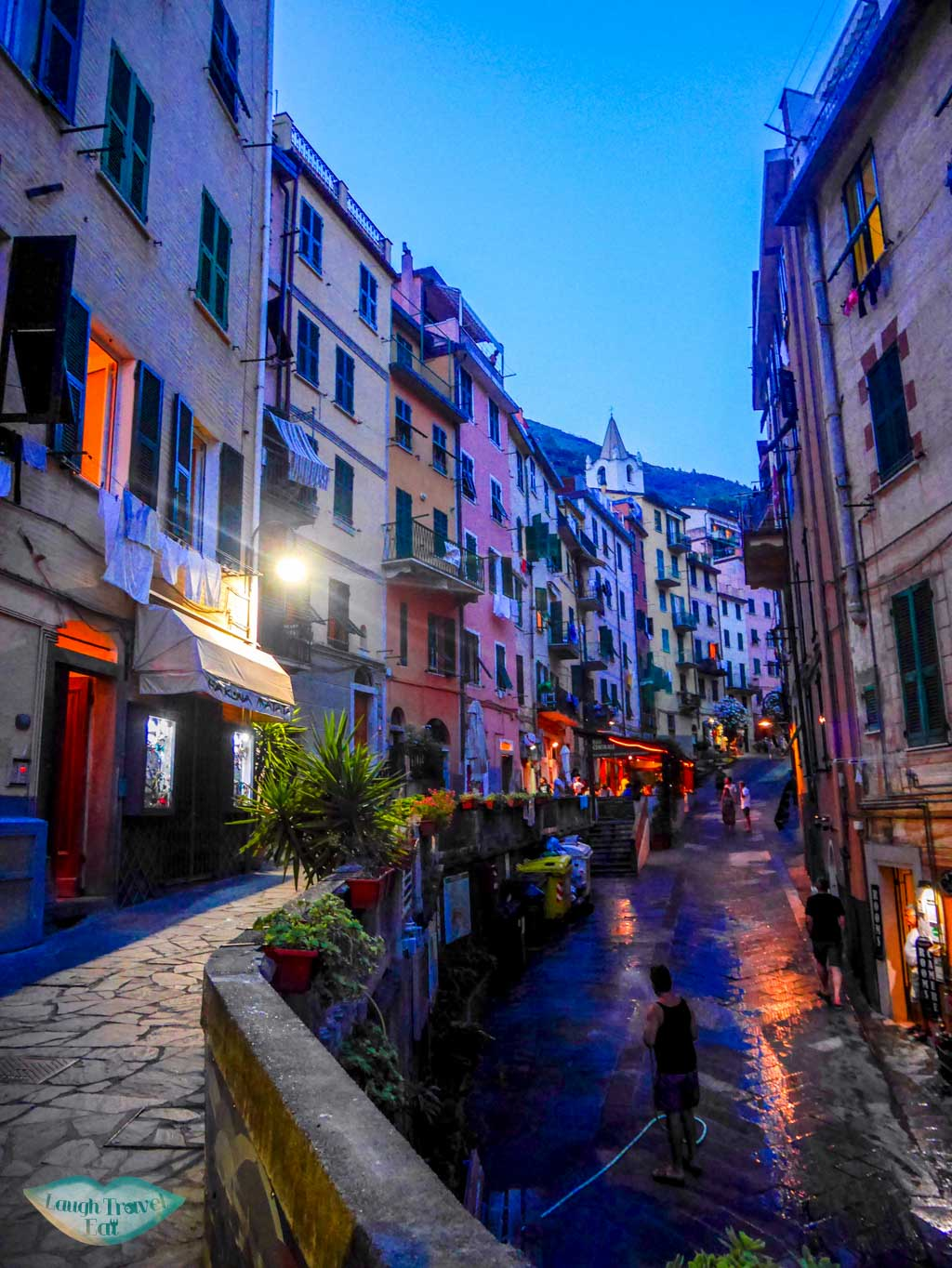 Riomaggiore after sunset is just as charming | Laugh Travel Eat