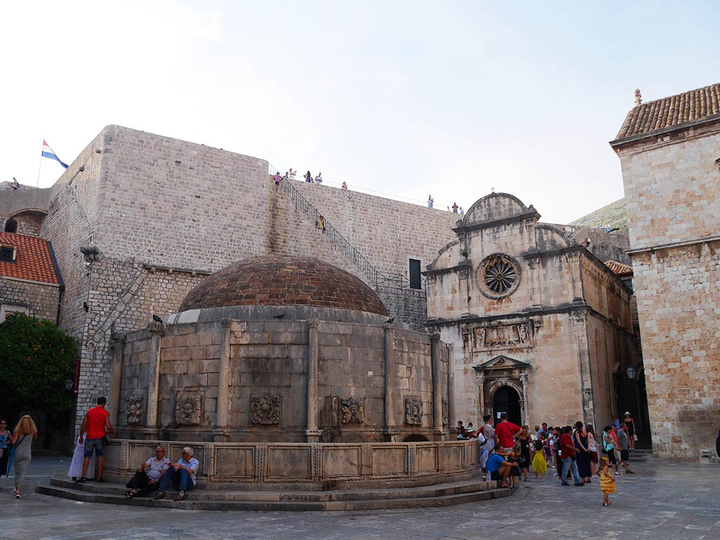onofrio's fountain and st savior's church dubrovnik, Croatia | Laugh Travel Eat