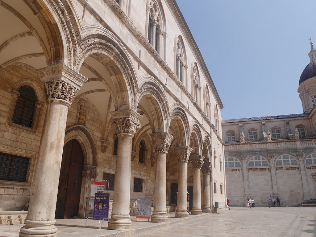 rector's palace exterior dubrovnik, croatia | Laugh Travel Eat