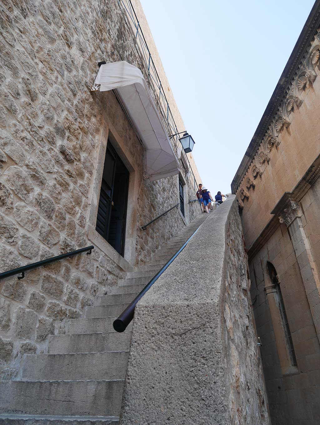 stairs up to the dubrovnik city wall, croatia | Laugh Travel Eat